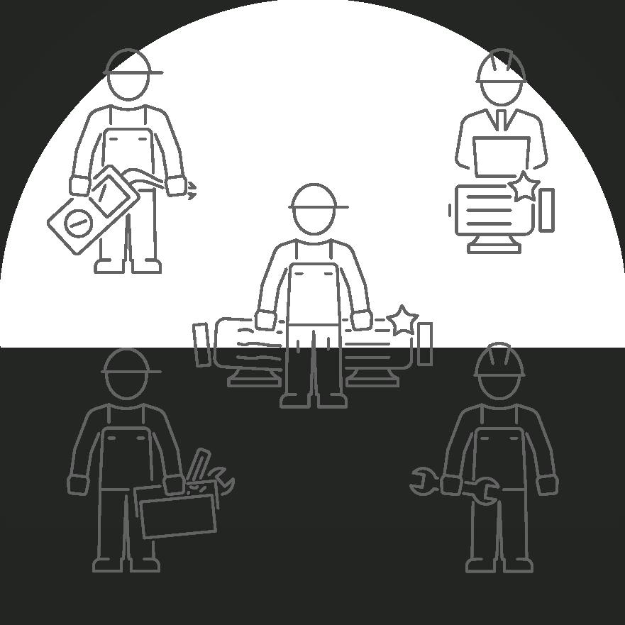 Dienstleisungs-Symbole