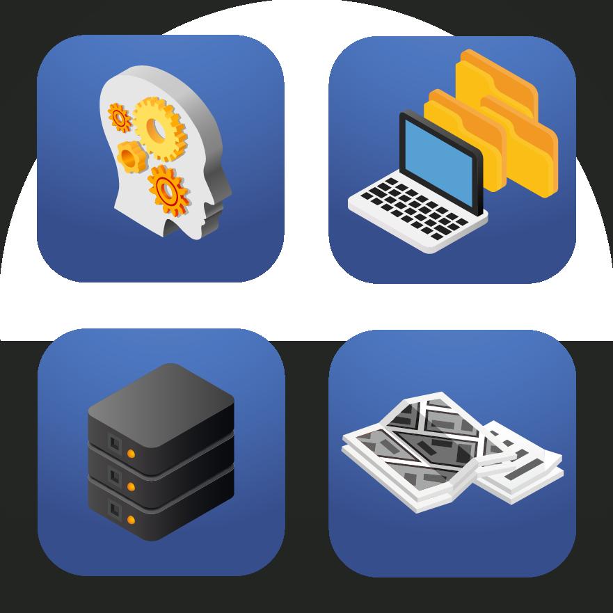 Symbole für Arbeitsprozesse